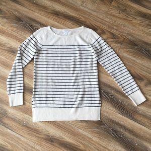Club Monaco 100% Cashmere Striped Sweater